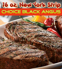 New York Strip Choice Angus 16 oz.